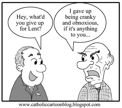 Image result for lenten denial cartoons